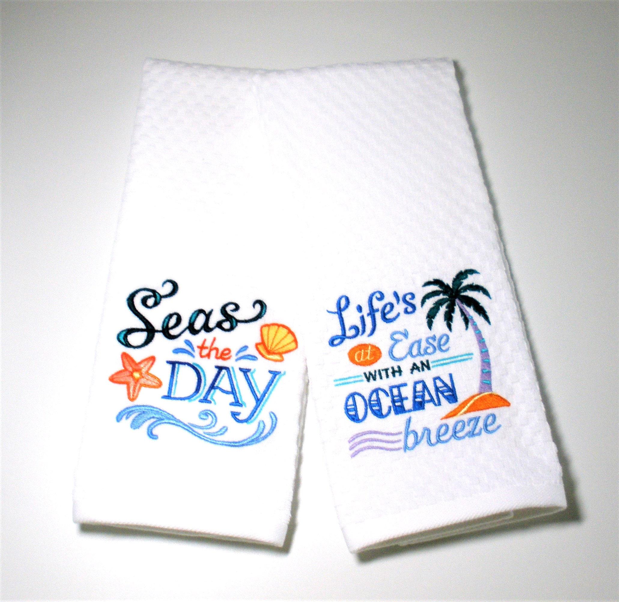 Ocean Kitchen Decor: Inspirational Ocean Kitchen Towel Set Beach House Decor