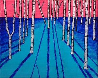 """Vision Quest VIII (Original Acrylic Painting) 10"""" x 8"""" by Mike Kraus"""