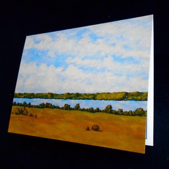 4 x 5.5 by Mike Kraus Set of 6 print reproduction greeting cards Hemlock Lake