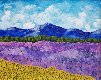 Sunflowers and Lavender In Provence (ORIGINAL DIGITAL DOWNLOAD) by Mike Kraus