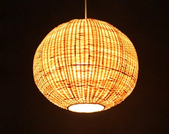 Bamboo pendant light etsy free shipping sphere bamboo pendant lights bamboo light fixtures rustic lighting ceiling bamboo lampshade deocr lamps counter hanging lamp aloadofball Choice Image