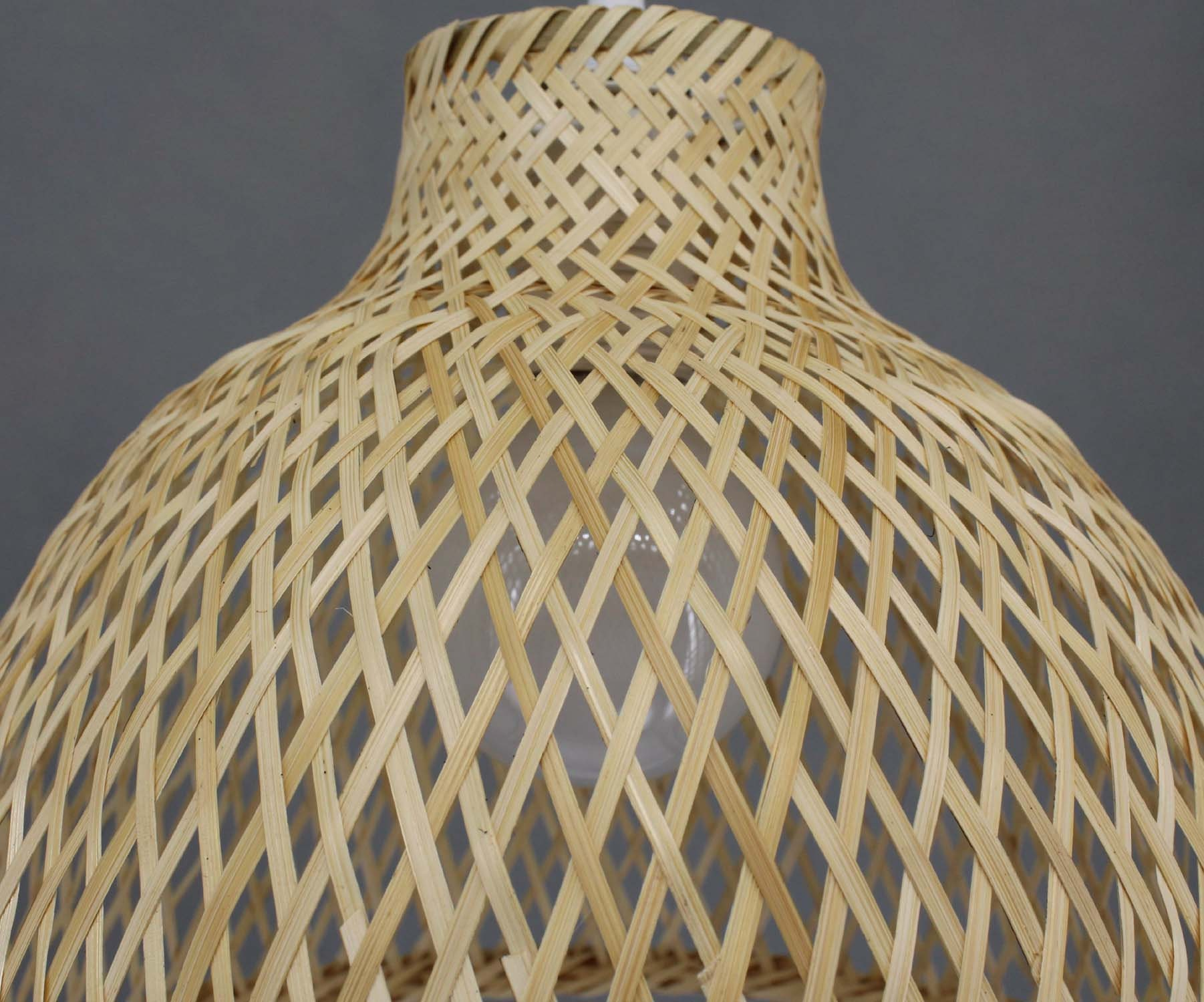 Hand Woven From Bamboo Pendant Lightings-Ceiling Lamp-Bamboo