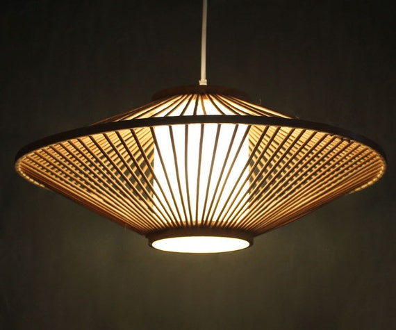 Creative Bamboo And Parchment Pendant Lamp 110 240v One