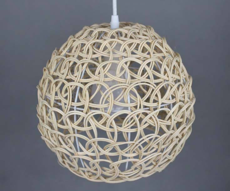 New Hand Woven Process Natural Rattan Pendant Lights  One