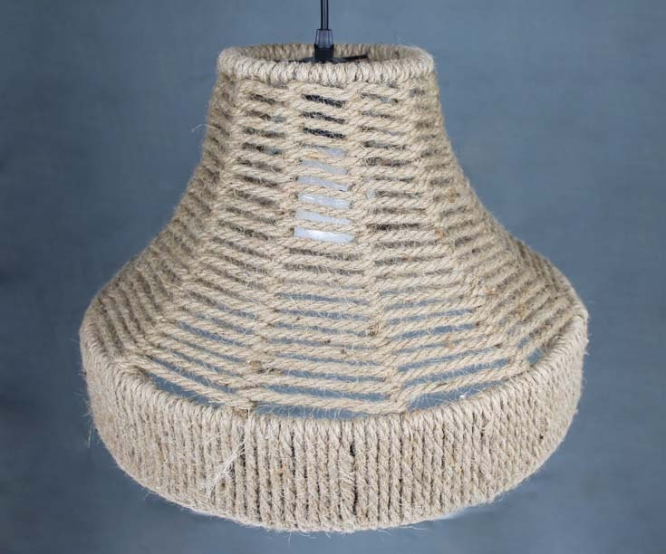 Natural Hemp Rope Hand Woven Decor Lighting  Pendant Light
