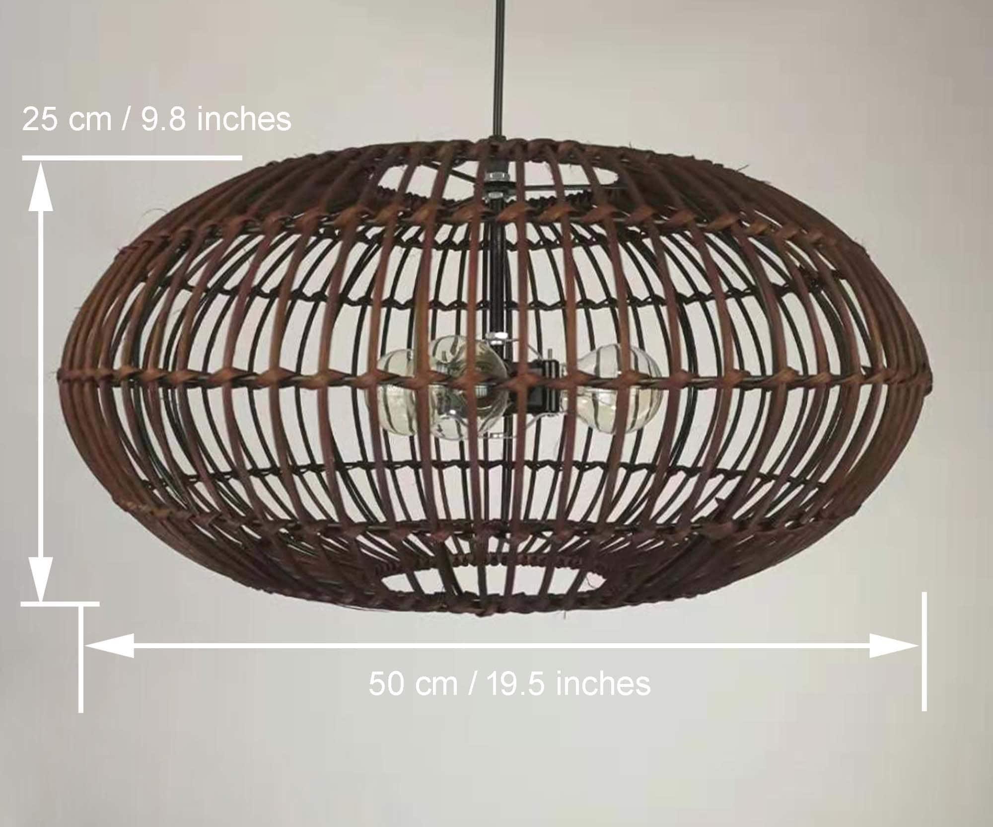 Oval Rattan Pendant Light  Brown / Black / Natural Rattan