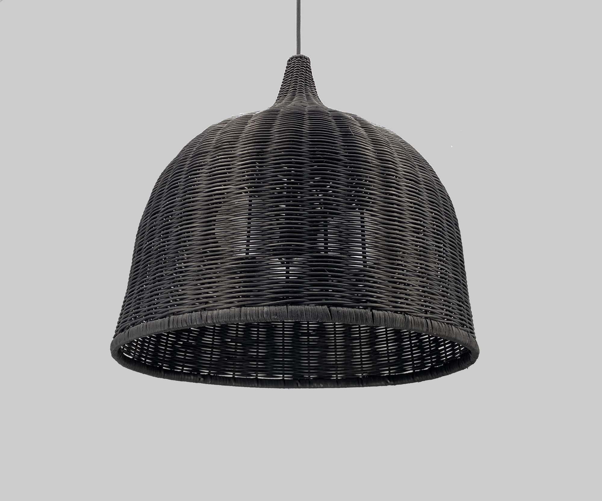 Black Bell Shaped Basket Lighting  Pendant Lights   Vinatge