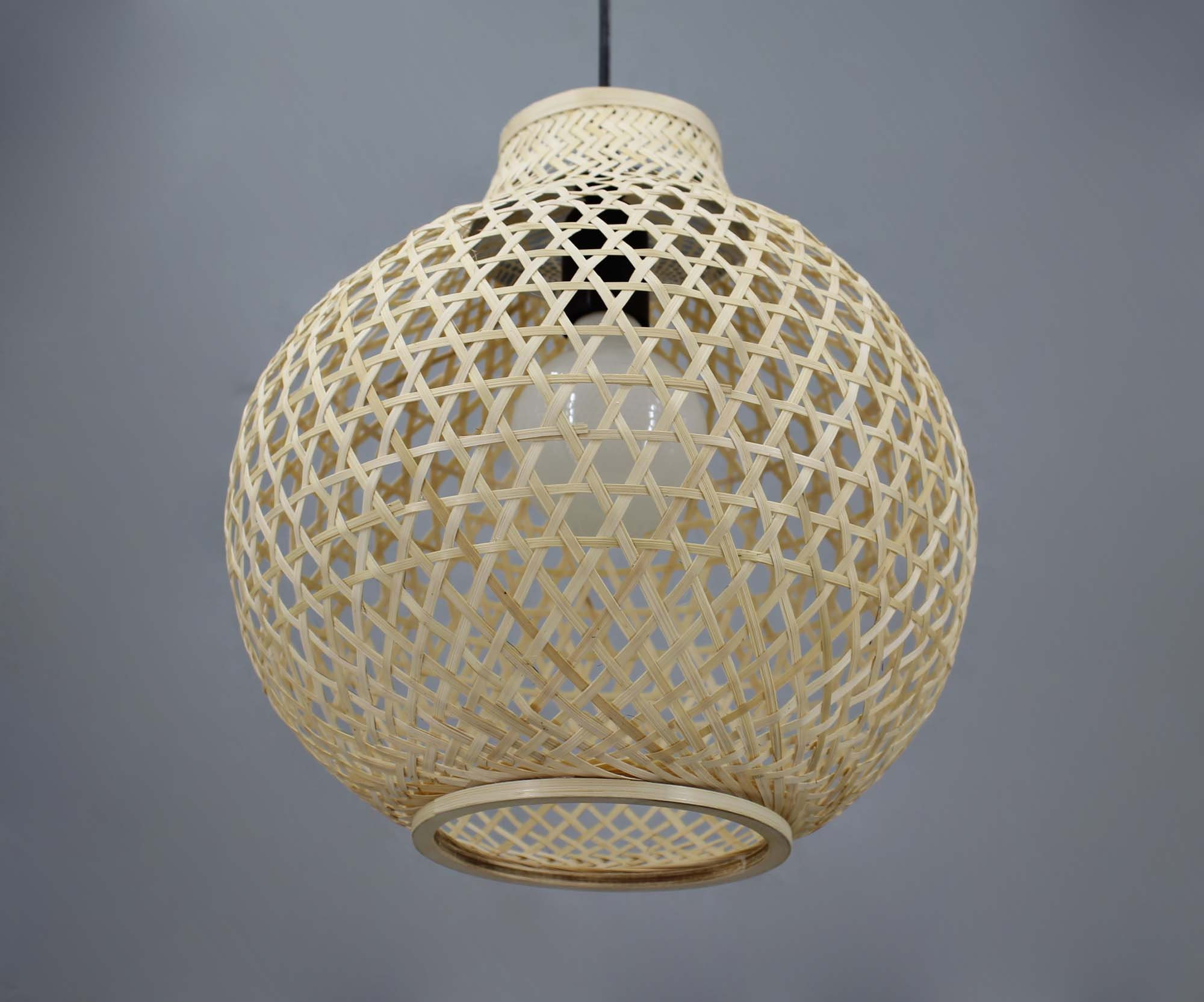 Natural Bamboo Gourd-shaped Pendant Lights  Decorative