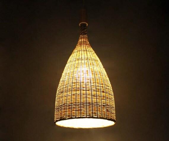 Flared bamboo pendant lights bamboo ceiling lighting bamboo etsy image 0 aloadofball Choice Image
