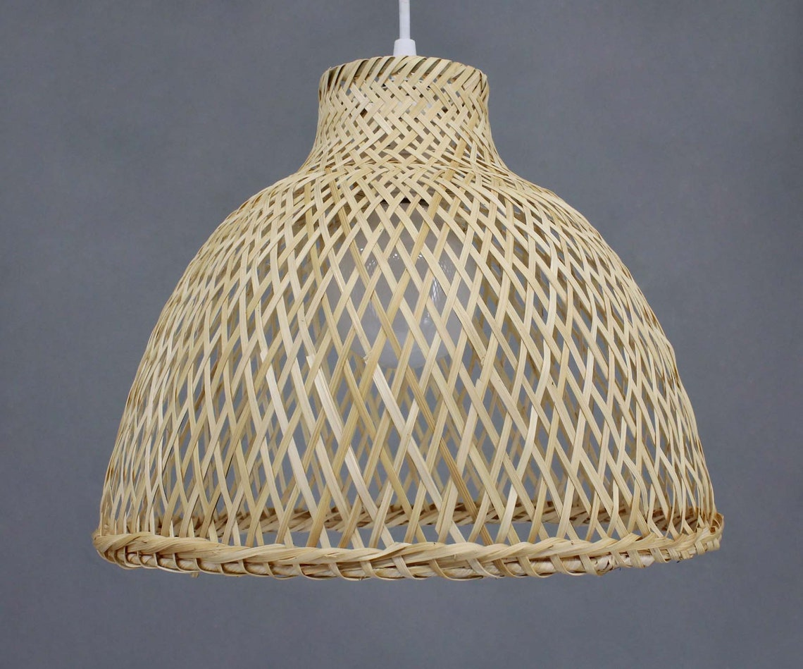 Hand Woven From Bamboo Pendant Lightings Ceiling Lamp Bamboo Lighting Fixtures Decor Lighting Dining Room Lamp