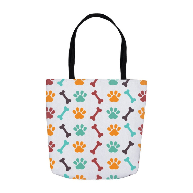 Dog Tote Bones And Paws Pattern Dog Tote Bag Gift For Dog Owners Dog Tote Carrier Dog Lover Gift
