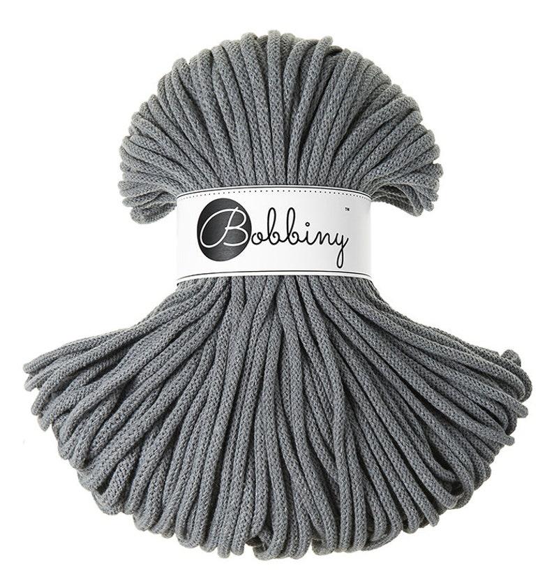 Bobbiny cotton rope 100 meters macrame cord chunky yarn 5mm Steel Cotton Cord 108 yards