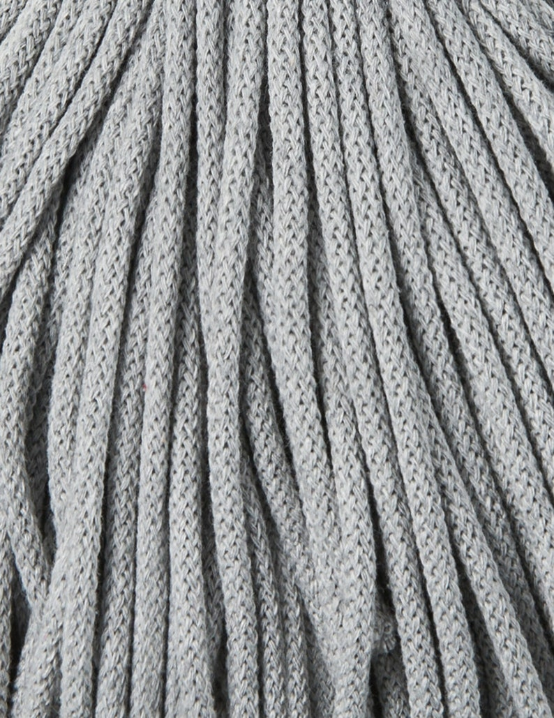 cotton rope Bobbiny 100 meters 5mm Silver Cotton Cord 108 yards chunky yarn macrame cord