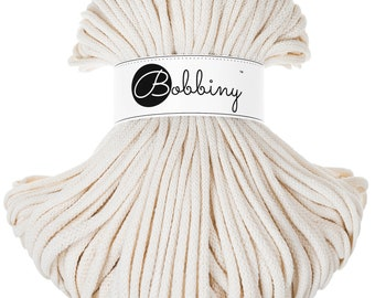 Natural 5mm Premium cotton cord, 108 yards (100 meters) - braided cotton rope, macrame cord