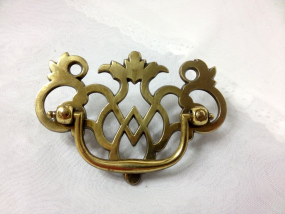 4 Pierced Brass Pineapple Design Drawer Pulls With Bail Handles, For Furniture  Hardware Replacement China Cabinet, Dresser, Buffet, 50% OFF From  Dollyjayne ...