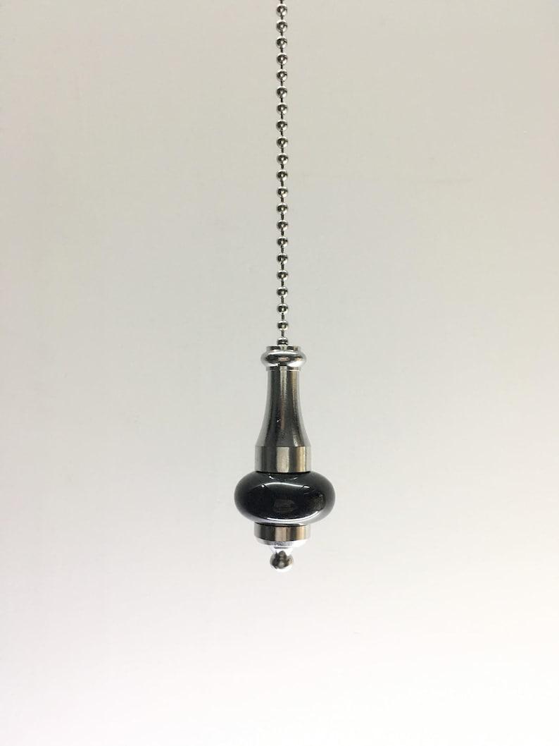 Light Pull Cord Ceramic Chrome Chain 1m Bathroom Ceiling Fan Switch Pull Cord