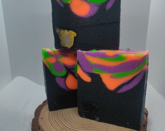 Halloween Soap Bar, Cold Process Soap Bar, Witches Brew Soap, Homemade Soap