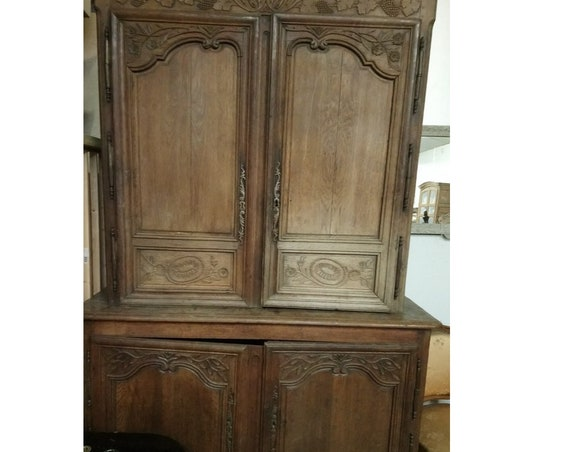 Fabulous French antique old oak Cupboard on cupboard buffet farmhouse kitchen food cupboard collect yourself or ask for courier quote