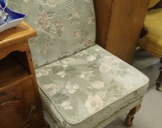 Vintage simple cocktail or bedroom or nursing chair for stage one upholstery project