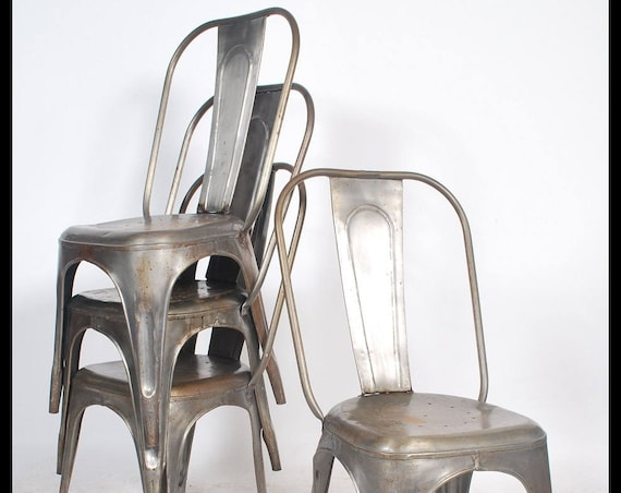 Vintage steel tolix style chairs
