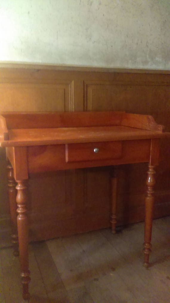 Old vintage French walnut ladies desk or side table hall table lamp table collect from us or ask for delivery quote
