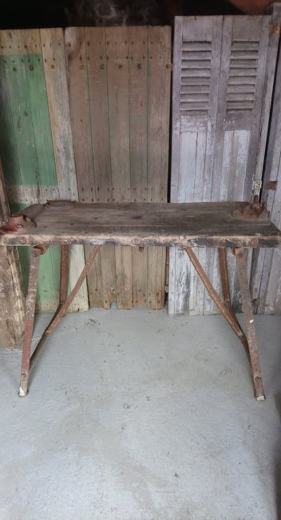 industrial chic antique French plumbers worktable bench ideal kitchen island unit