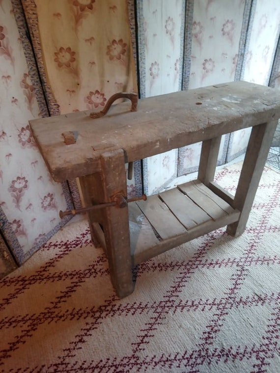 Fabulous Industrial Chic Antique French Oak Workshop Bench Ideal Kitchen Island Unit Gmtry Best Dining Table And Chair Ideas Images Gmtryco