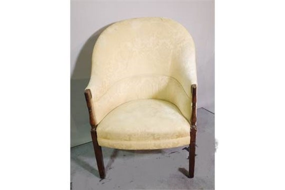 Antique Victorian armchair in pretty tub shape