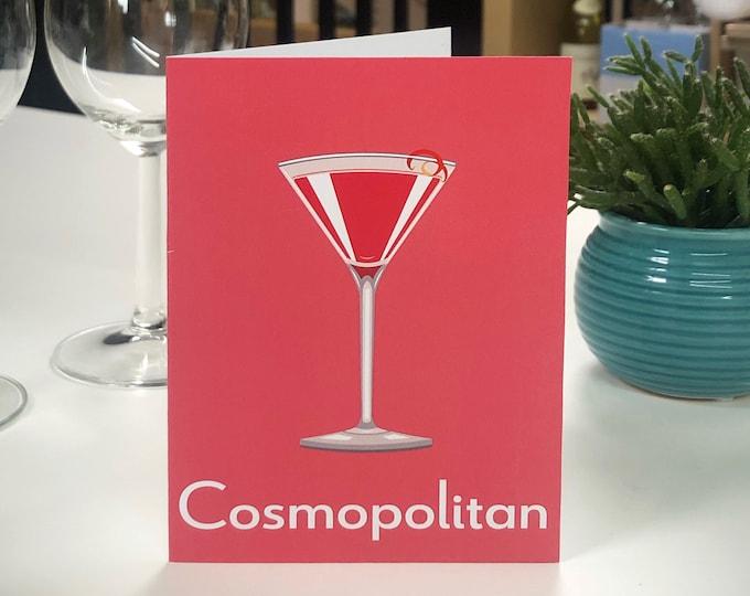 COSMOPOLITAN Greetings Card - Cocktail Card - Art Deco