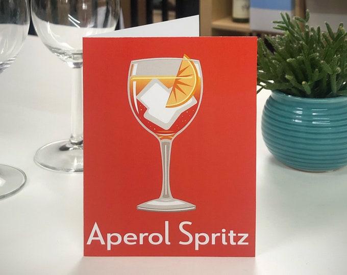 APEROL SPRITZ Greetings Card - Cocktail Card - Art Deco