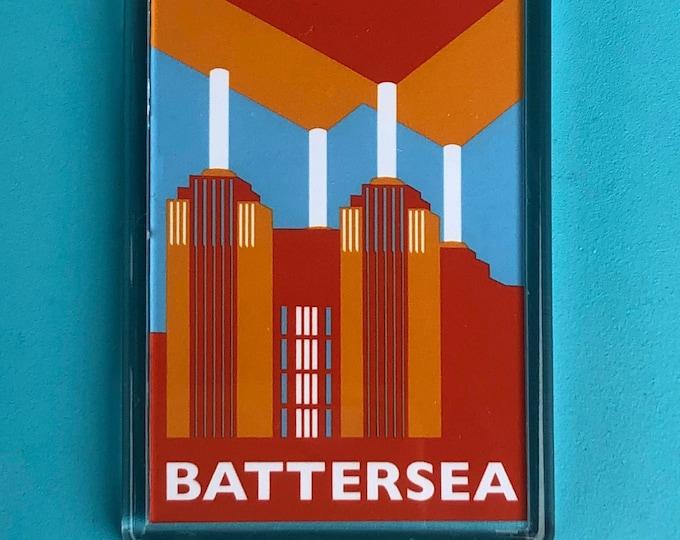 BATTERSEA Power Station LONDON Travel Poster Style Fridge Magnet by Rebecca Pymar