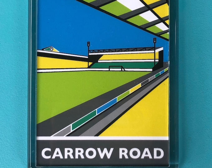 CARROW ROAD Travel Poster Style Fridge Magnet by Rebecca Pymar