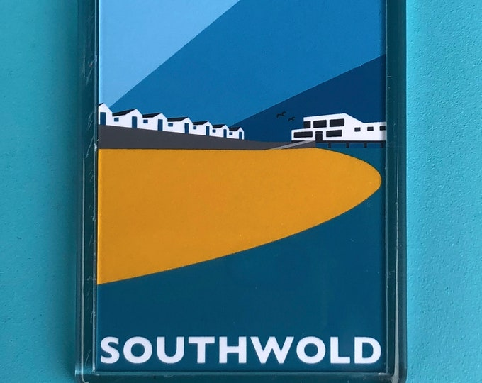 SOUTHWOLD Travel Poster Style FRIDGE MAGNET by Rebecca Pymar