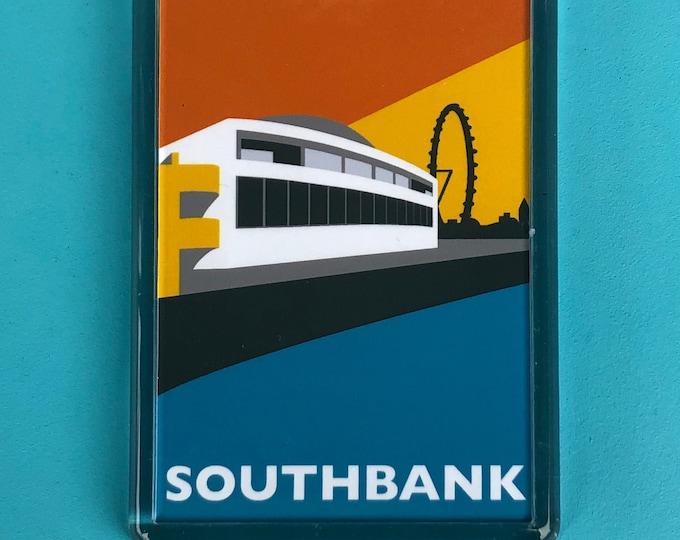 LONDON SOUTHBANK Fridge Magnet - Southbank - Waterloo - Brutalist / Brutalism - Illustration by Rebecca Pymar