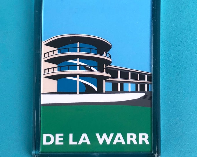 DE LA WARR Pavilion Travel Poster Style Fridge Magnet by Rebecca Pymar