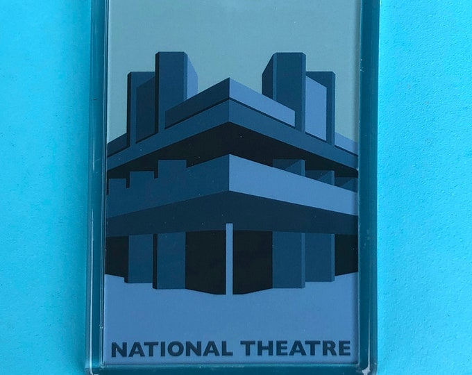 NATIONAL THEATRE Fridge Magnet - Southbank - Waterloo - Brutalist / Brutalism - Illustration by Rebecca Pymar