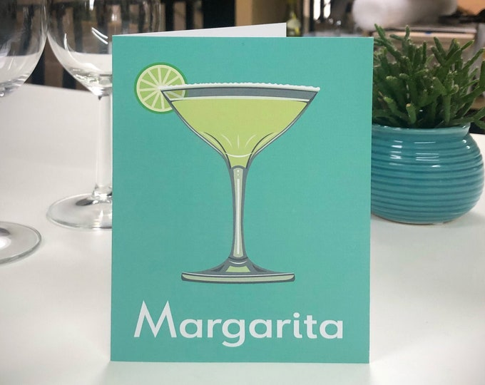 MARGARITA Greetings Card - Cocktail Card - Art Deco