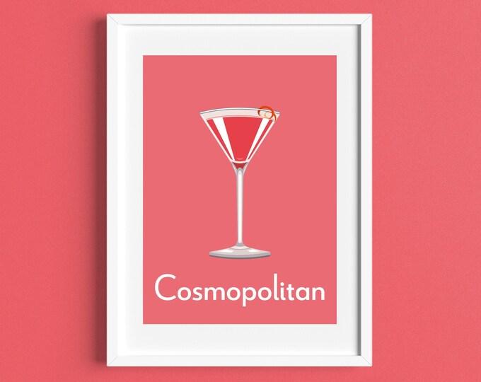 COSMOPOLITAN 'Cosmo' COCKTAIL A4/A5 Print