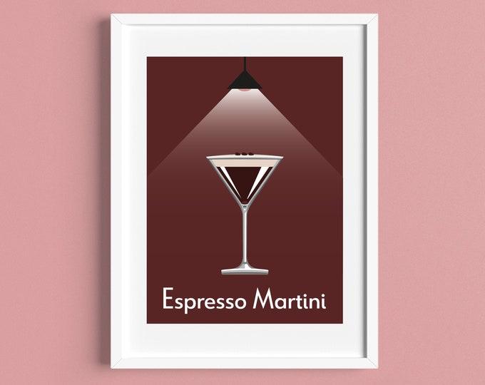 ESPRESSO MARTINI COCKTAIL A4 Print