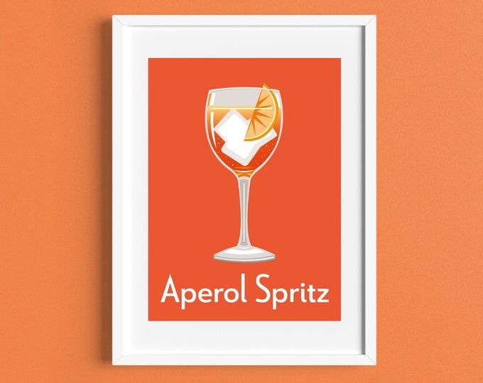 APEROL SPRITZ COCKTAIL Print A4/A5