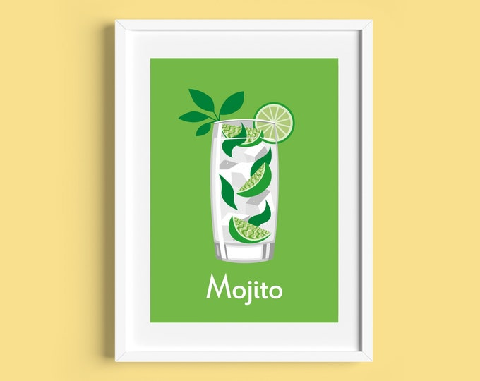 MOJITO COCKTAIL A4/A5 Print