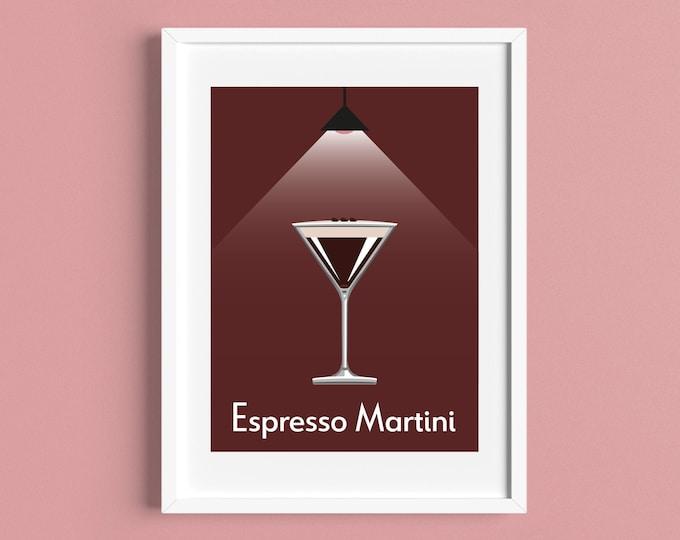 ESPRESSO MARTINI COCKTAIL A4/A5 Print