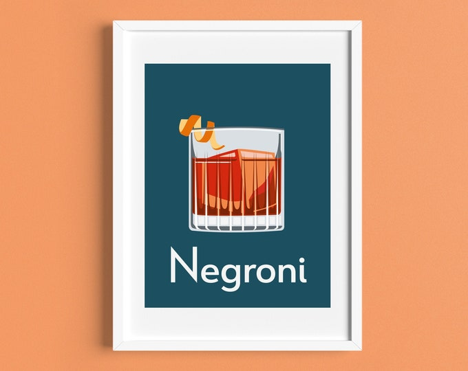 NEGRONI COCKTAIL A4/A5 Print