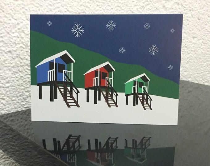 WELLS CHRISTMAS - Single Christmas Card - by Rebecca Pymar