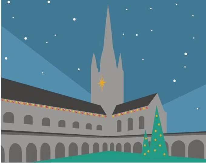 NORWICH CATHEDRAL themed Christmas Cards, Pack of 6