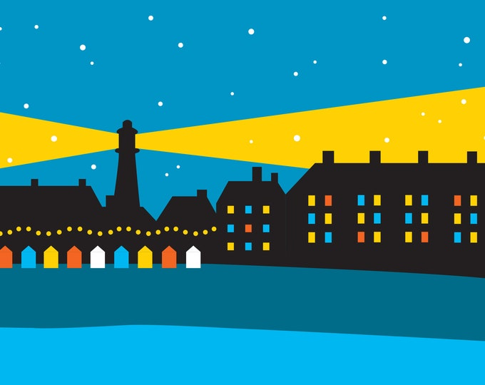 SOUTHWOLD Lighthouse Christmas Card - pack of 6 Cards - by Rebecca Pymar