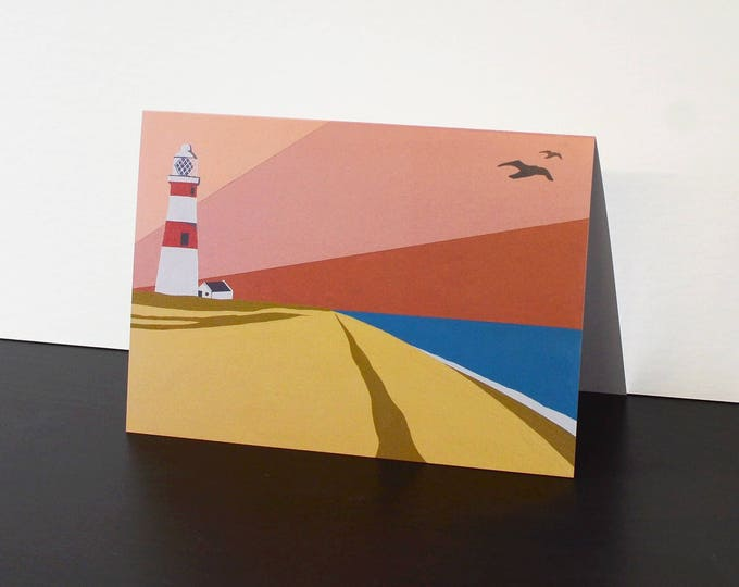 Lighthouse themed Artists Greetings Card 'Orford Ness Lighthouse' by Rebecca Pymar