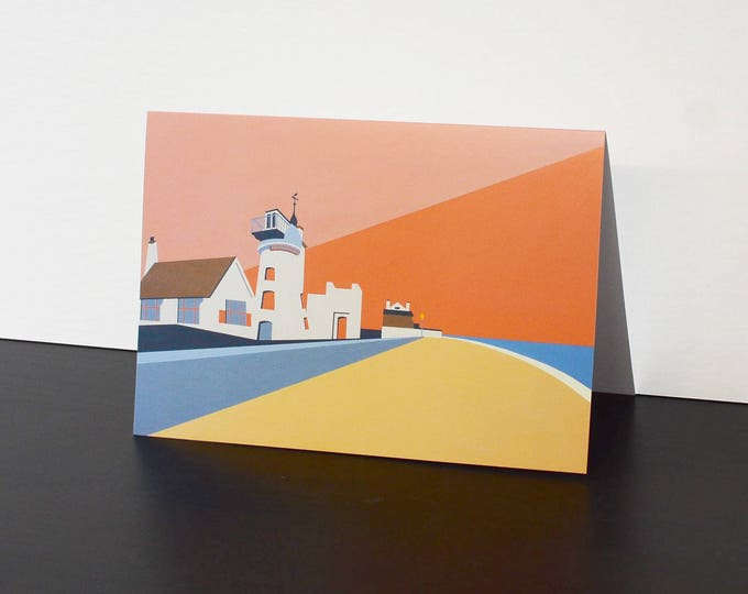 Aldeburgh themed Artists Greetings Card 'Aldeburgh Mill' by Rebecca Pymar