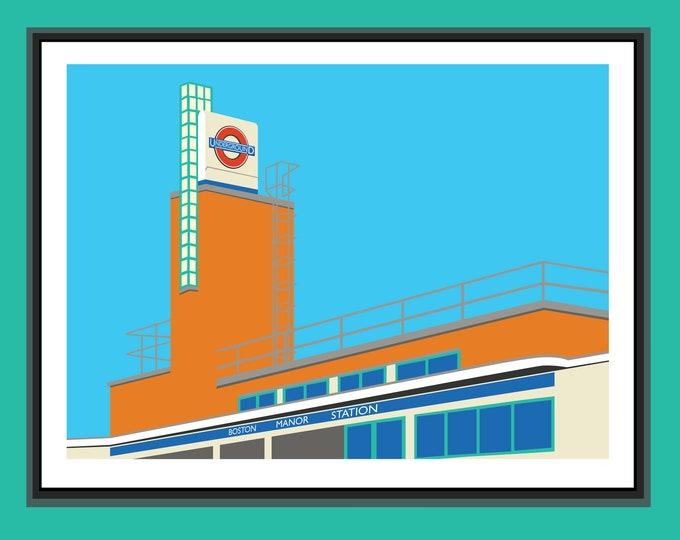 BOSTON MANOR PRINT - Tube Station Print