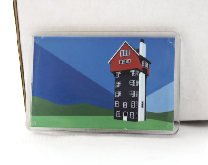 House in the Clouds Fridge magnet by Rebecca Pymar